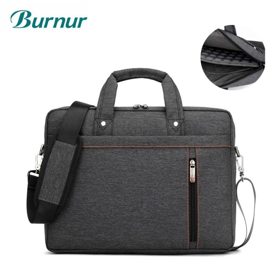Burnur New 13.3 14.1 15.6 17.3 Inch Laptop Bag Shockproof Airbag Waterproof Computer Bag Thick Notebook Sholder Bag men Women bag