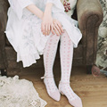 Princess sweet lolita Japanese Princess Oriental Aesthetics Wind stamp Long tube socks ak13
