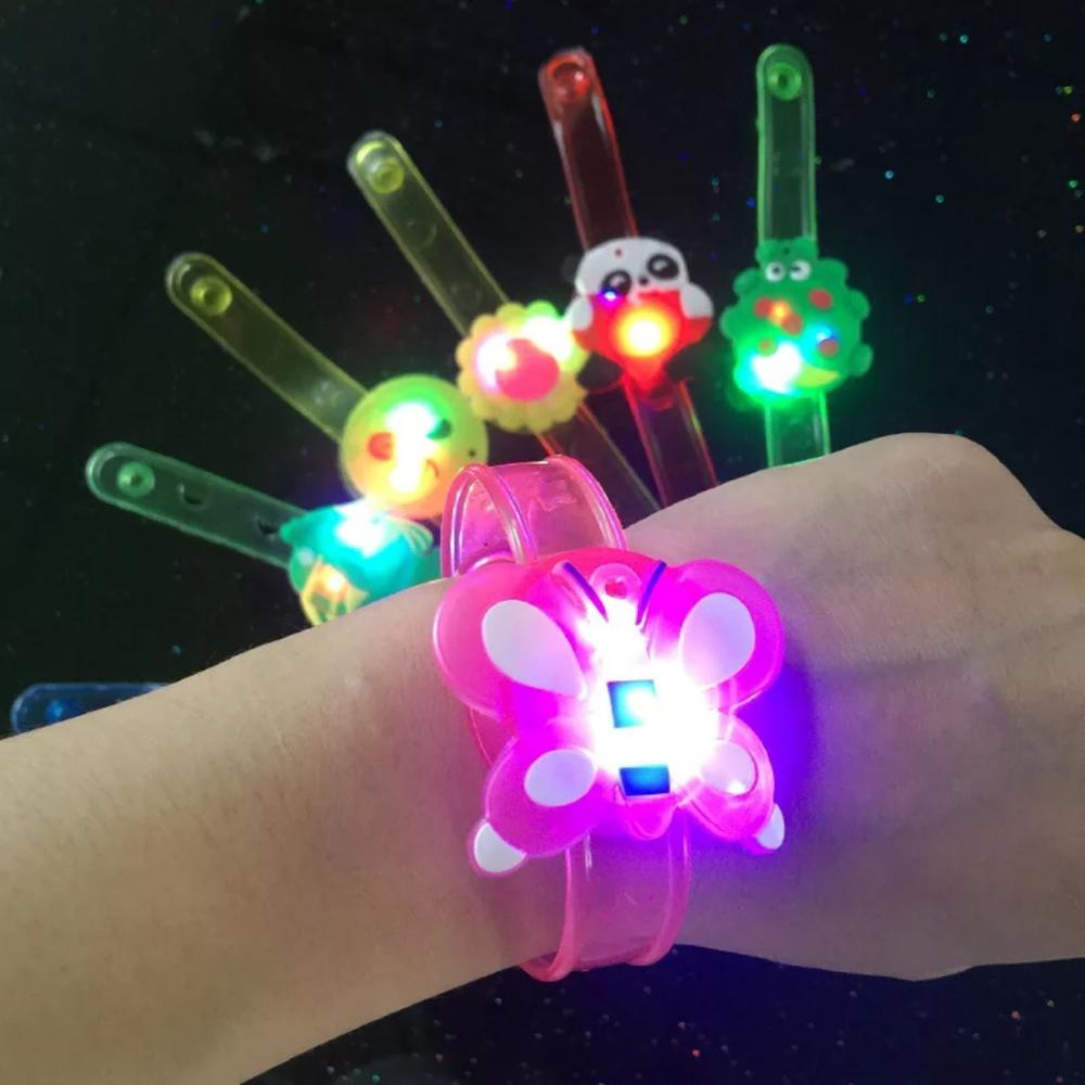 Flash LED Lighting Children Kids Bracelet Wrist Band Birthday Gift Party Decoration Cartoon Flash Luminous Watch