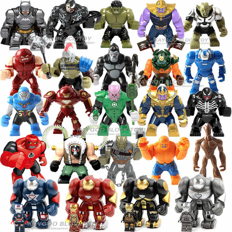 ขนาดใหญ่ Figure Hulk Buster Big Super heroes Batman Iron War Machine Venom Thanos Spider man Building Blocks อิฐชุดของเล่น
