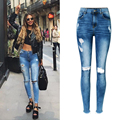 2017 High Waist Women Jeans Tassles Women Ninth Denim Pants Skinny Jeans For Women Pencil Pants Female Ripped Jeans For Women