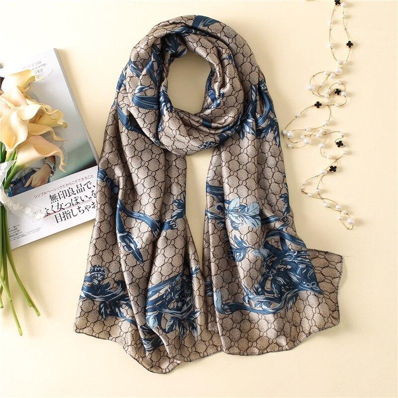 New silk scarf women fashion winter neck