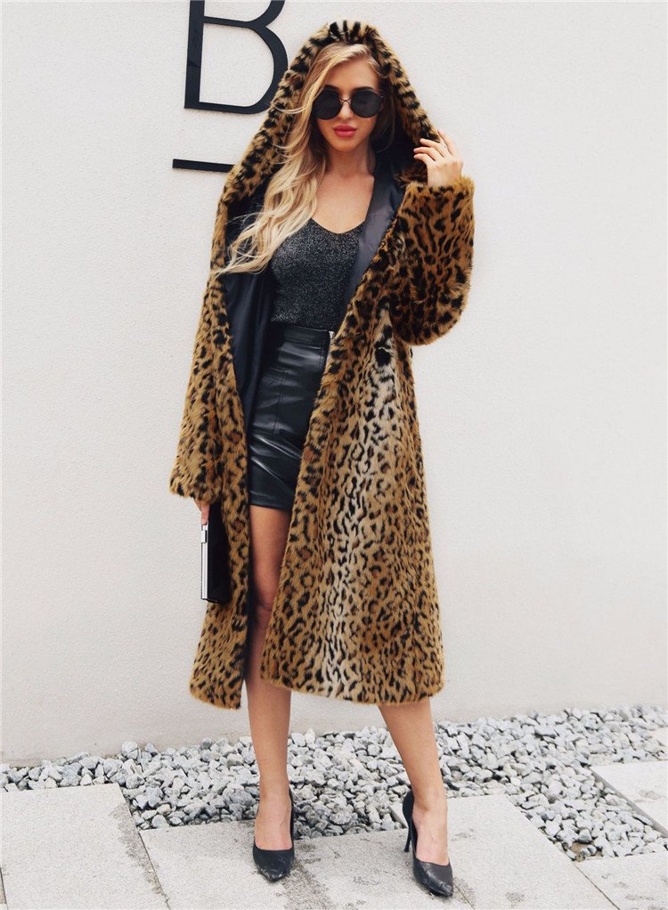 2018 fashion European and American women\`s fashion leopard long coat female fashion women\`s hooded coat (5)