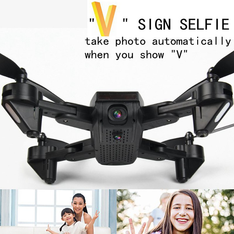 Double Camera Drone Optical Follow Rc Drone With Camera V Sign Selfie Dron Fpv Quadcopter Toys For Kids Vs Sg700 Xs809hw Sg600