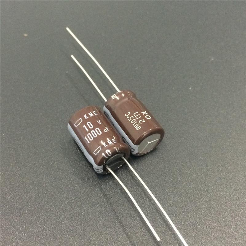 100pcs 1000uf 10v Japan Ncc Kme Series 10x16mm 10v1000uf Motherboard Electrolytic Capacitor-in