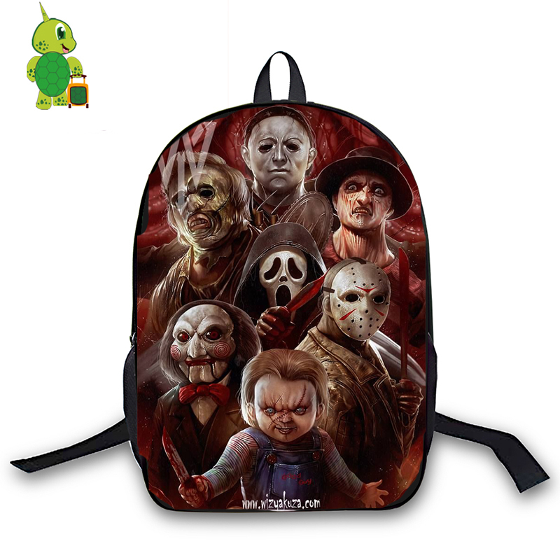 Horrible Killers Backpack Chucky Jason Freddy Nun Printing School Bags For Teenagers Students Daily Backpack Travel Rucksack