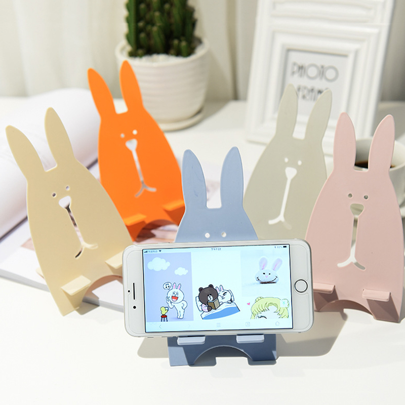 Univeral Lazy Mobile Phone Holder Accessory Cute Animal Rabbit Cellphone Tablet Desktop Holder Stand For IPhone 7 8 Plus XS XR
