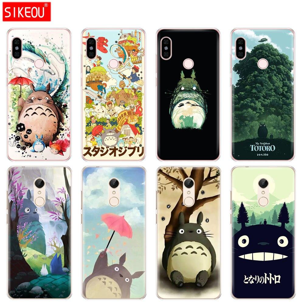 Silicone  Cover phone  Case for Xiaomi redmi 5 4 1 1s 2 3 3s pro PLUS redmi note 4 4X 4A 5A My Neighbor Totoro Anime