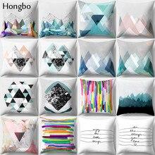 Hongbo 1 Pcs Pillow Case Cushion Cover Bed Pillowcase Square For Car Sofa Home Decor 45x45cm Marble Line