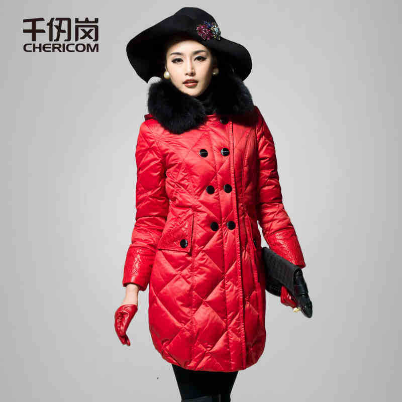 2015 New Hot Woman Down jacket Coat Parkas Outerwear Thicken Warm Luxury Hooded Slim Fox Fur collar Mid Long Plus Size 3XXXL