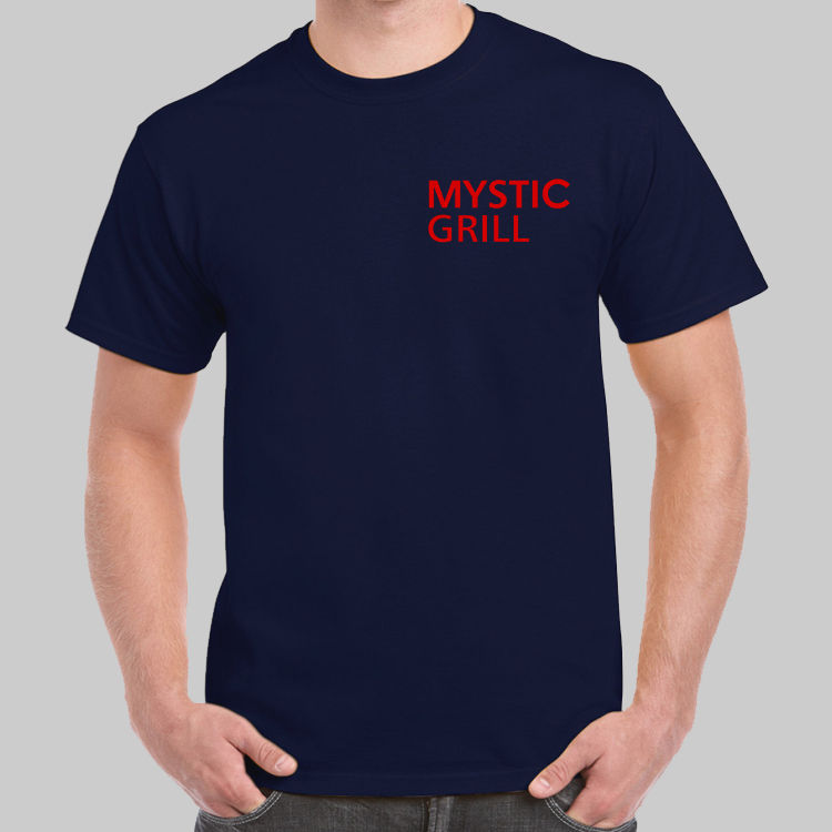 The Vampire Diaries Mystic Grill Logo Navy T-shirt USA Maat New 2018 - Herenkleding