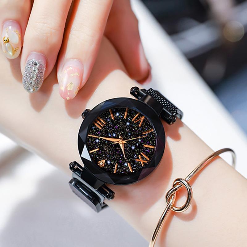 2020 luksusowe kobiety zegarki magnetyczne Starry Sky zegarek kwarcowy zegarek moda damska zegar Reloj Mujer Relogio Feminino 3