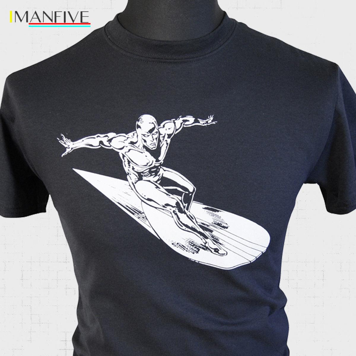 The Silver Surfer T Shirt Fantastic Four Retro Comic Super hero Sci Fi New T Shirts Funny Tops Tee New Unisex Funny Tops in T Shirts from Men 39 s Clothing