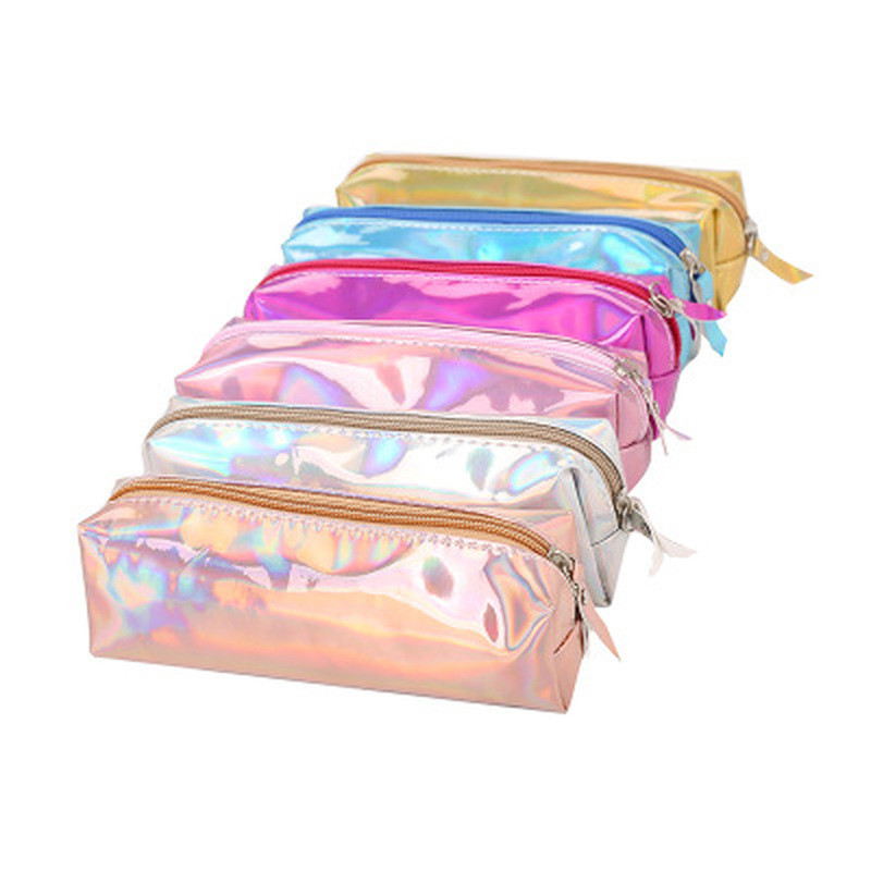 1pcs Color Pencil Case Student Stationery Novelty Korean Bags High Capacity Pencil Pouch Cute Stationery Pen Bag School Supplies