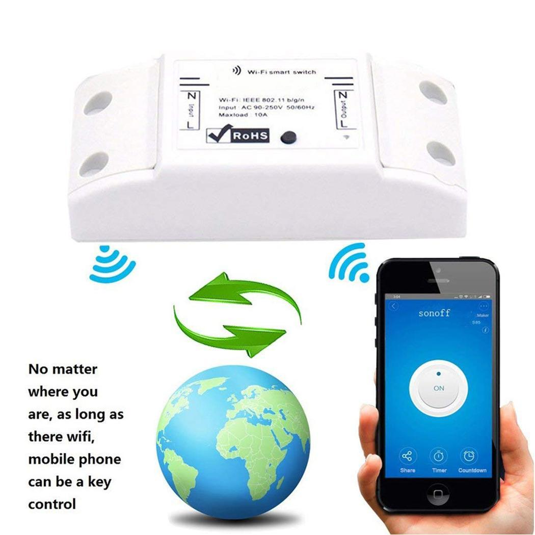 Remote Control Wifi Wireless Smart Switch For Home iOS, Android Phone APP Appliance WIFI Communication image