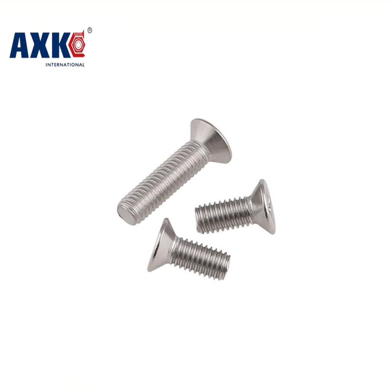 2017 Parafusos Drywall Axk M2 Gb819 Phillips Flat Countersunk Head Screws With Cross Recess Machine Screw 304 Stainless Steel 100pcs m2 m2 5 m3 km black countersunk head machine screws