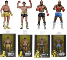 Color box 18cm NECA Rocky III ROCKY BALBOA CLUBBER LANG 40th Anniversary PVC Action Figure Collectible Model Toy