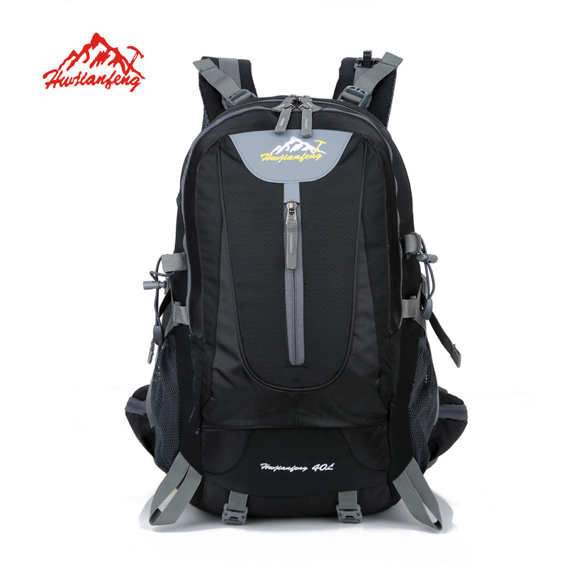 40L Climbing Bag Waterproof Material Unisex Travel Camping Sport men Camping Hiking Outdoor Backpack with Rain Cover