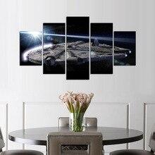 Star War Millennium Falcon 5 Panel Canvas Home Decor