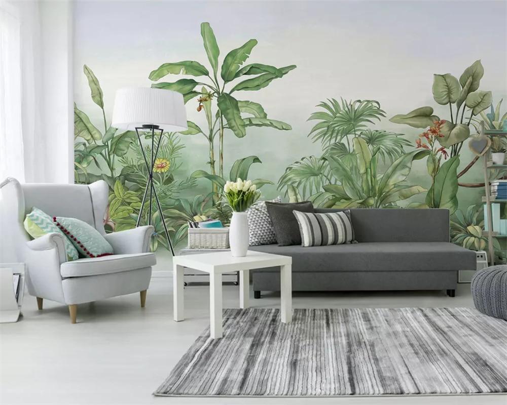 Beibehang Custom Photo Wallpaper 3D Large Wall Painting Wall Stick 3d Hand Painted plant banana tree Modern TV Wall 3d wallpaper
