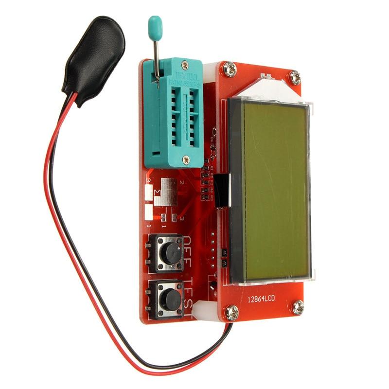 DIY KITS Set Transisto Tester Resistor transistor Capacitance ESR Meter Resistance Inductance Measuring NPN PNP Inductanc