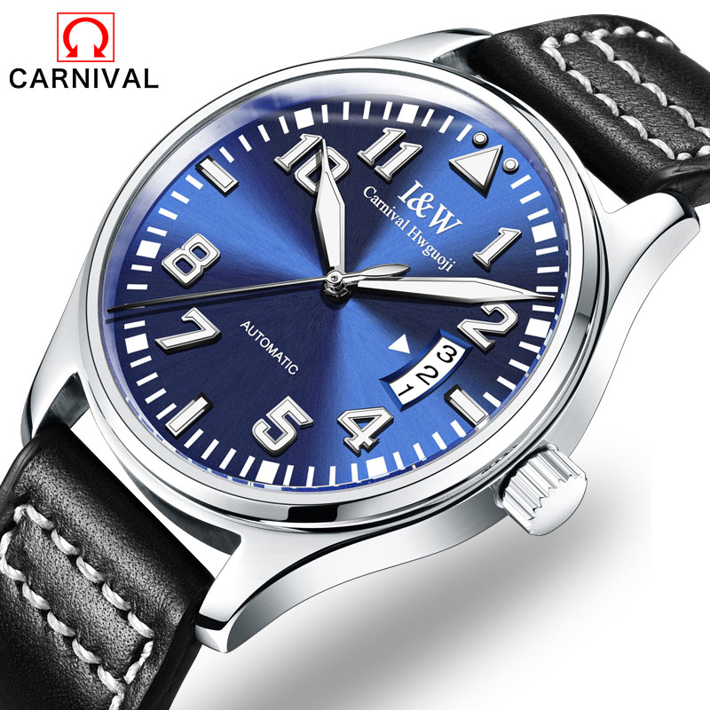 CARNIVAL the new 2017 mens fashion automatic mechanical watch tourbillon leather luxury brand sports watches relogio masculinoCARNIVAL the new 2017 mens fashion automatic mechanical watch tourbillon leather luxury brand sports watches relogio masculino