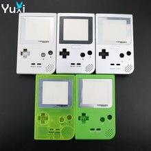 YuXi לבן כסף ברור ירוק פלסטיק פגז מקרה כיסוי החלפה עבור Gameboy כיס משחק קונסולת דיור עבור GBP