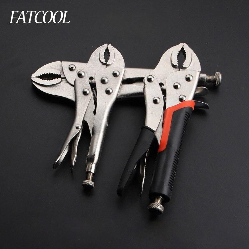 7 zoll 10 zoll 11 zoll Carbon Stahl Schweißen Werkzeug Einstellbare Gerade Jaw C Klemme Locking Mole Umge Griffe Zangen
