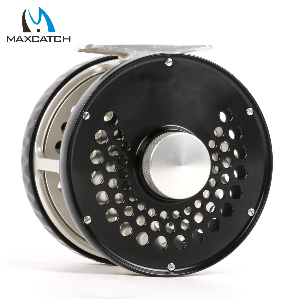 Maximumcatch Classic Fly Fishing Reel 7WT/8WT/9WT/10WT Clicker Disc Drag System CNC Machine Cut T6061 Aluminum Fly Reel