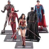 Statue de la ligue de Justice de DC ARTFX Batman le Flash Superman Cyborg merveille femme figurine d'action PVC modèle de collection jouet