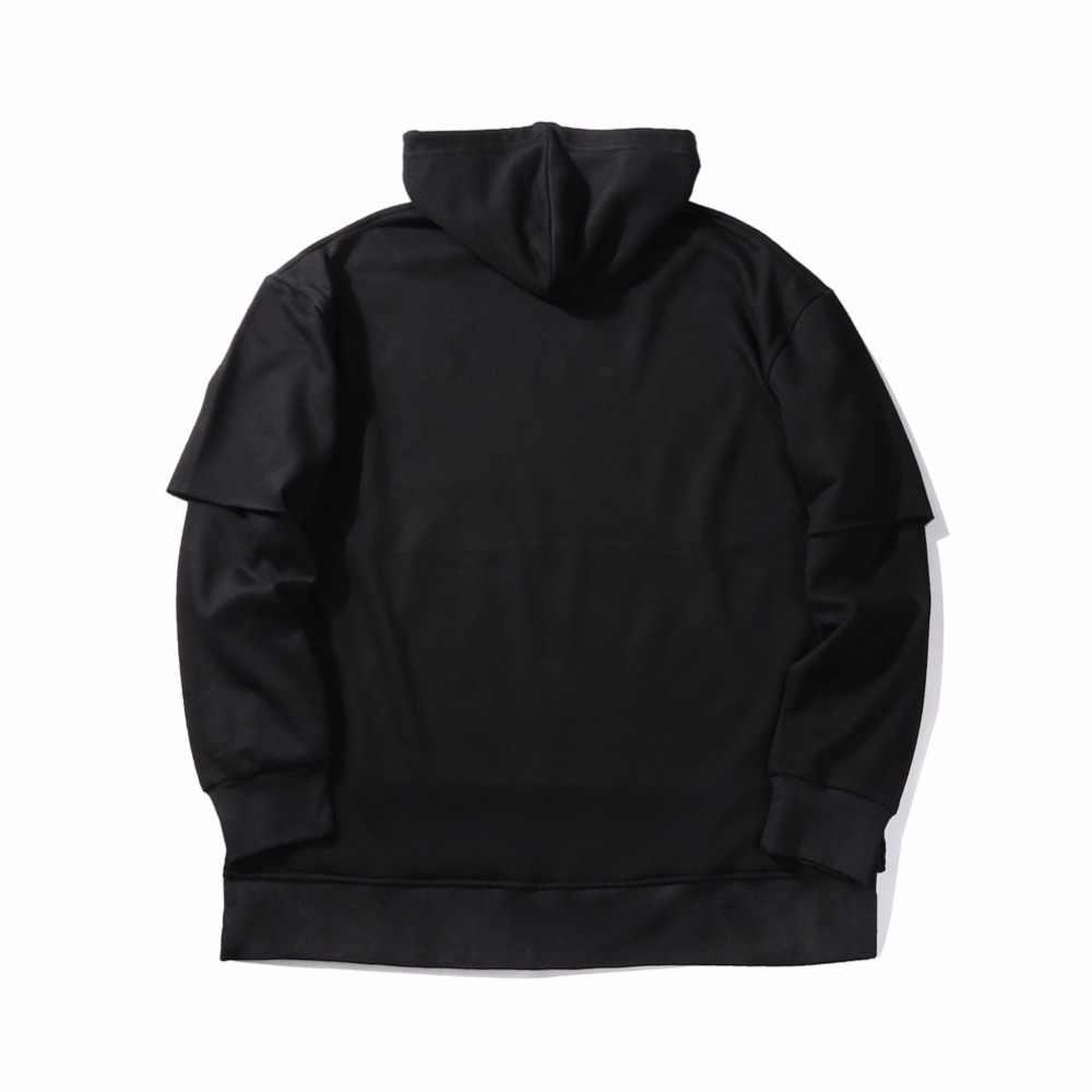 Nueva marca de moda sudaderas con capucha de lana 2017 invierno cálido para hombre kanye west Hip Hop Sudadera con capucha Swag sólido chándal