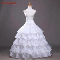4 Hoops Ball Gown Petticoats Cheap Black Petticoat Crinoline Underskirt Big Ruffle Wedding Accessories Womans Tulle