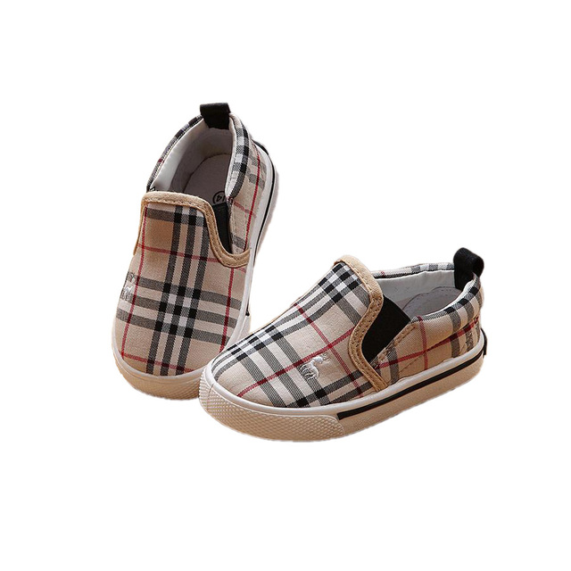 lovely causal baby canvas shoes cute simple gingham style prewalker shoes for 9M-3yrs baby newborn infantil first walker shoes