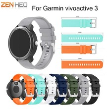 Silicone Rubber Watch Band Wrist strap For Garmin vivoactive 3 Replacement Watchband Strap For Garmin vivoactive 3 Wristband hot sale fabulous replacement soft leather watch band strap tool for garmin vivoactive sporting goods accessories dec07
