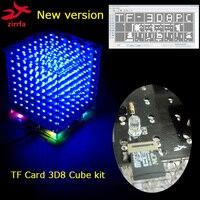 New Version 3D 8S 8x8x8 Mini Light Cubeeds Kit For TF Card Led Electronic Diy Kit
