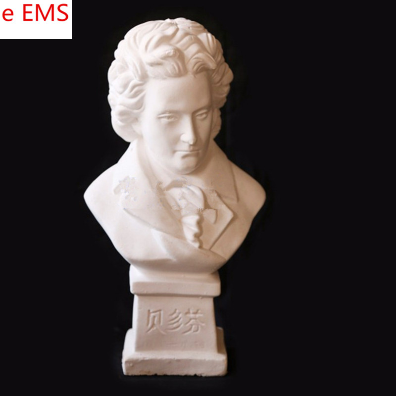 Gypsum Ludwig Van Beethoven Bust Statue Franz Joseph Haydn Gypsum Powder Craftwork Home Decorations Art Material L2331 gypsum ludwig van beethoven bust statue franz joseph haydn resin craftwork home decorations art material l2332