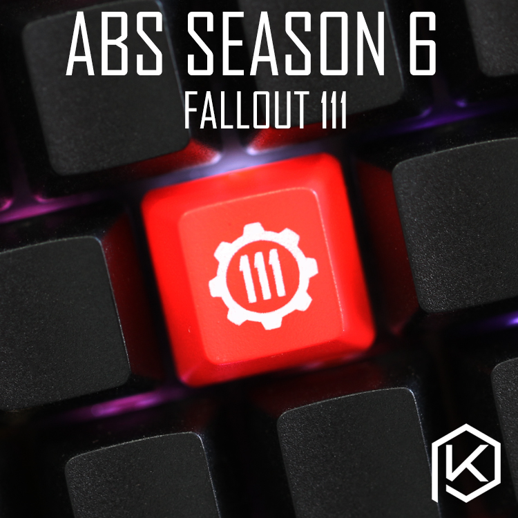 Novelty Shine Through Keycaps ABS Etched, Light,Shine-Through Fallout Bipboy Vault 111 Nuka Cola Oem Red Black Atomic Bomb