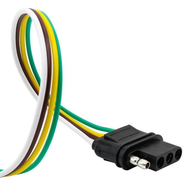 4 way Flat Output Connects Splices Into Trailer Wiring Connection To ...