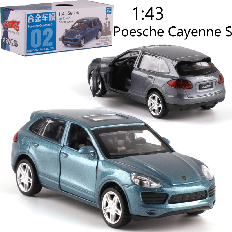 1:43 Scale Cayenne S Alloy Pull-back Car Diecast Metal Model Car For Collection Friend Children Gift