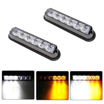 (2pcs/lot) 4LED 6LED Waterproof Car Truck Flashing Warning Light LED Emergency Light Hazard led Strobe Lights Beacon 12V/24V - DISCOUNT ITEM  30% OFF All Category
