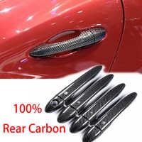 Hohe qualität 100% real carbon fiber Auto außentür griff abdeckung für Maserati Ghibli quattroporte Levante LHD auto styling