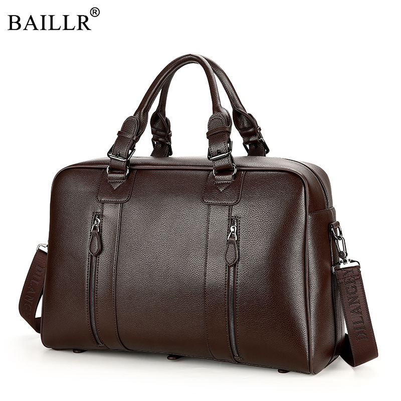 2019 New Fashion PU Leather Men s Travel Bag Luggage Travel Bag Men Carry On Leather