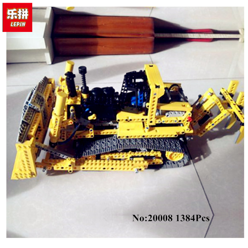 LEPIN 20008 1384PCS technic series remote contro lthe bulldozer Model Assembling Building block Bricks kits Compatible 42030 lepin 20008 technic series remote contro lthe bulldozer model assembling building block bricks kits compatible with 42030