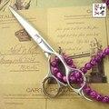 """Japonês 440C japonês tesouras de cabeleireiro profissional tesouras do cabelo de alta qualidade 6 """"Tesouras Do Barbeiro kapper schaar"""