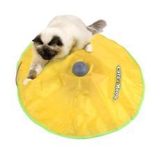 Katten speelgoed Elektrische kat speelgoed Interactieve cat Toy Moving Muis automatische kat speelgoed 4 speed mode Catch Me Undercover Muis speelgoed