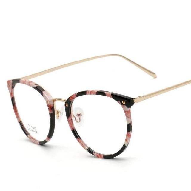 c5f556cb9 Novos Oculos de grau Ultra Light TR90 Armações de Óculos Para As Mulheres Retro  Armações de