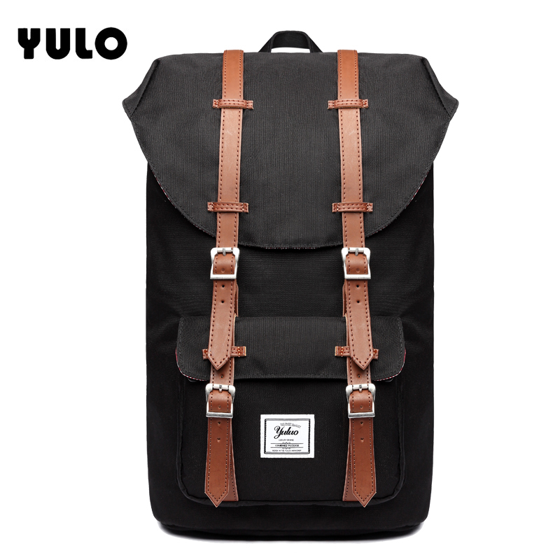 YULO Brand Stylish Travel Large Capacity Backpack Male Luggage Shoulder Bag Computer Backpacking Men Functional Versatile Bags men travel canvas backpack large capacity male luggage shoulder bag computer backpacking men student vintage casual backpack
