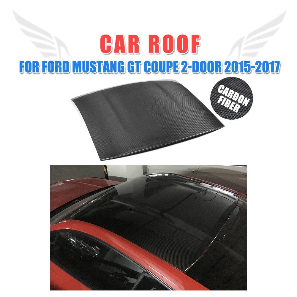 Углеродного волокна крыши автомобиля чехол для Ford Mustang GT Coupe 2 двери 2015 2017 стайлинга автомобилей