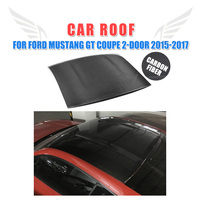 Carbon Fiber Car Roof Cover for Ford Mustang GT Coupe 2 Door 2015 2017 Car Styling