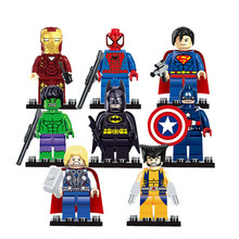 Super Heroes Marvel Figures Captain American Hulk Spiderman Iron Man LEGOINGLYS Building Blocks Mini Bricks Children Toys 30(China)